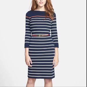 LIKE NEW Lauren Ralph Lauren Stripe Boatneck Dress